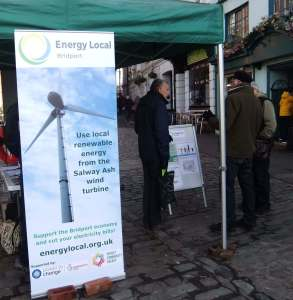 Market stall for local energy project